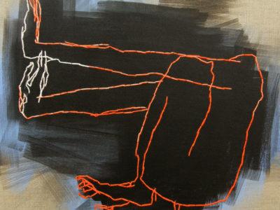 Acryl Wolle Auf Leinen, 50x50cm