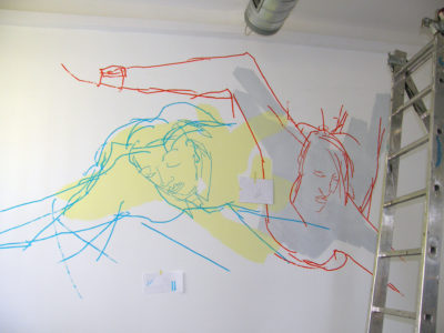 Fly, Wallpainting, 460x280cm