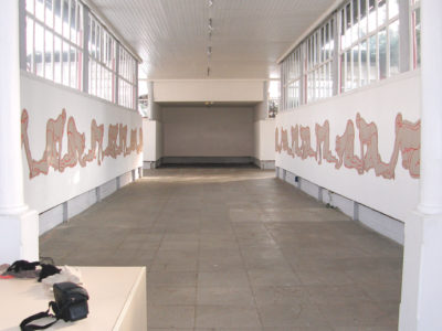 Installation, Marker Corrugated-Cardboard, 1400cm
