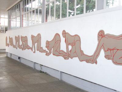 Installation, Marker Corrugated-Cardboard,1400cm