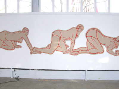 Installation, Marker Corrugated Cardboard, 1400cm