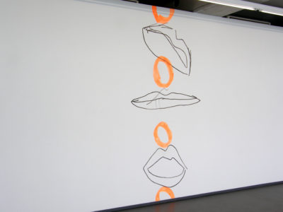 Whoopi 15, Wallpaiting, Acrylic on Wall, 120 x 320cm