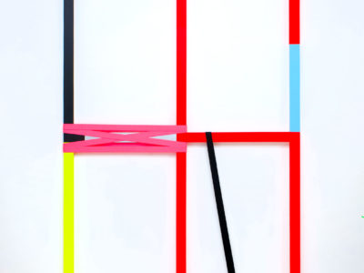 Untitled 2, 200x100cm, AcrylicPaint: Industrial Latches, 2019