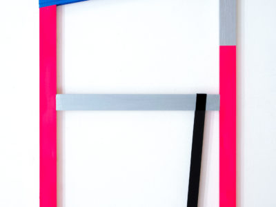 Untitled 2, 50x100cm, AcrylicPaint: Industrial Latches, 2019