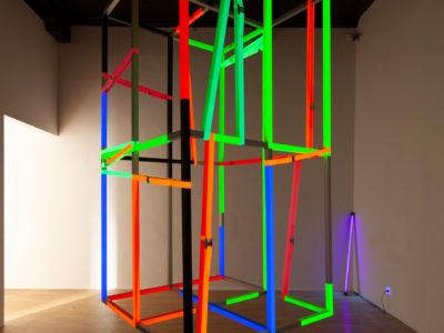 Cage, Acyrl auf Alurahmen: Industriezurren, 210x110x110cm