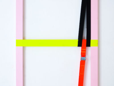 Untitled 2, 50x100cm, AcrylicPaint: Industrial Latches ,2019