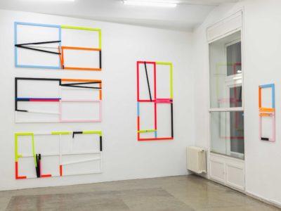 Exhibition View, Äpfel Birnen Ananas, Christine König Galerie 2019