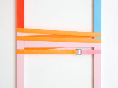 Untitled, 50x100cm, AcrylicPaint: Industrial Latches, 2019
